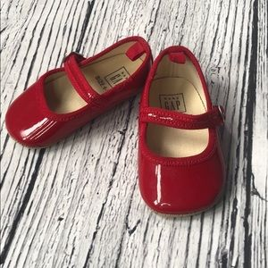 🍭6/$30 Baby Gap Red Patent Dress Shoes - 6-12 m